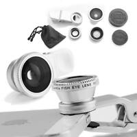 Universal 3&1 fish eye +wide angle +macro clip on camera lens