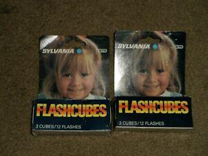 Sylvania Flash Cubes 2 Packs (24 Flashes) Unused, in Box