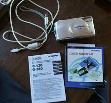 Olympus Camedia D-380 Digital Camera 2.0 Megapixels 4.5mm with Manual Cable Cd
