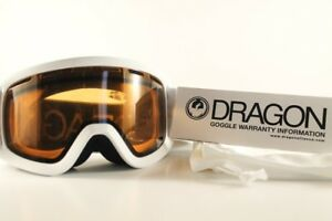 Dragon Alliance Lil D White Lumalens Amber Kids Snow Goggles