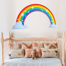 Rainbow Mural Room Decoration Stickers Kids House Wall Sticker Christmas Deco FO