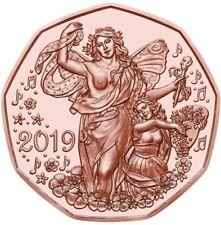 5 Euro Österreich 2019 Neujahrsmünze Lebensfreude in Kupfer