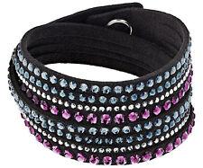 Bracciale Swarovski Slake Black deluxe 2 in 1 nero Donna bracelet 5141350 new