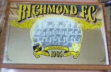 RICHMOND TIGERS AFL 1905 PREMIERSHIP TEAM BAR MIRROR c1970's - Super Memorabilia