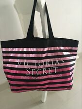 Victoria's Secret Signature Stripe Handbag Purse Huge