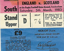 England v Scotland 5 Mar 1983 RUGBY TICKET
