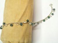 Bracciale in Argento 925 con Agata e Quarzo naturali - Braccialetto Pietre Dure