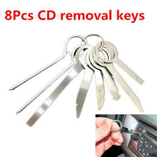 Universal 8pcs Car Dash Stereo CD Radio Head Unit Release Removal Keys Tool Set