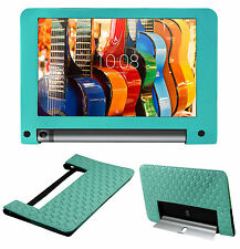 ACM-BACK EXECUTIVE LEATHER CASE for LENOVO YOGA TAB 3 8 TABLET COVER - TURQUOISE