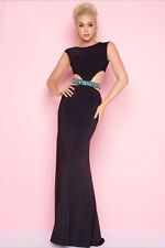 NEW MAC DUGGAL CUTOUT BEADED DRESS GOWN SIZE 0 $298 BLACK NORDSTROM