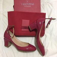 Valentino Garavani Tango Patent Leather Fuchsia Rouge Heels Italy 38.5 NIB
