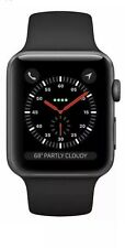 Apple Watch Series 3 38mm Space Grey Aluminium Case with Black S Band (GPS+Cell)