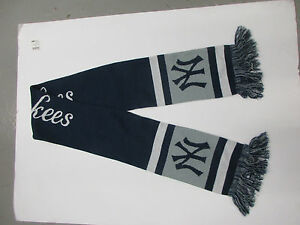 FOREVER COLLECTIBLES MLB NEW YORK YANKEES SCARF/BANNER BLUE/GRAY NEW W/TAGS