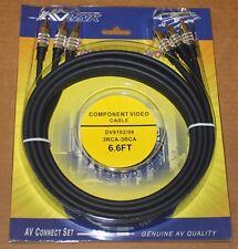 AV Link Component Cables, DV8102 - 6.6 ft, Brand NEW
