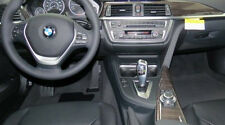BMW OEM F30 F31 F34 F36 3 4 Series Fineline Anthracite Wood Interior Trim Kit Fits 2017 430i Gran Coupe