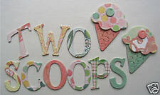 Basic Grey *TWO SCOOPS* Chipboard Letters ~*New*~