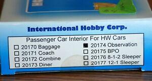 Interior for Observation car IHC  #20174  Box still sealed  HO