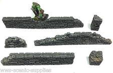 Stone Walls Set 6 x Fantasy Warhammer Damaged / Ruin Walls R10