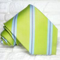 Cravatta uomo Regimental verde e blu 100% seta  Made in Italy marca  RP€ 34