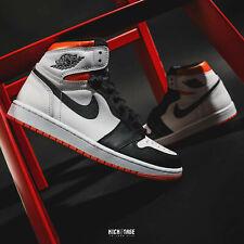 Nike Air Jordan 1 Retro High OG Electro Orange White Black AJ1 Mens 555088-180