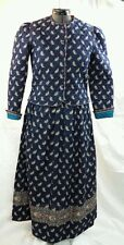 VERA BRADLEY Jacket / Top & Skirt Retired Fall Navy Womens L Paisley Outfit