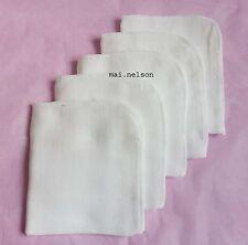 5 X Muslin Microfiber Cloths Facial Cleanser 100 Cotton / Super Soft Face Cloth