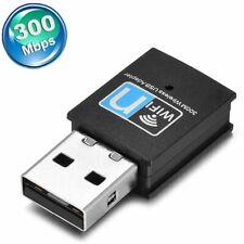 USB WLAN 300Mbps WiFi Wireless Netzwerk Adapter Lan Stick für PC Computer Laptop