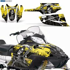 FireCat Arctic Cat Graphic Kit  F5,F6,F7 Sled Sabercat Snowmobile Wrap REAP YLW