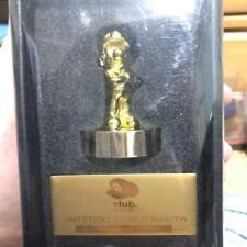 Super Mario Gold Statue Figure Platinum Member Memorial Club Nintendo  F/S