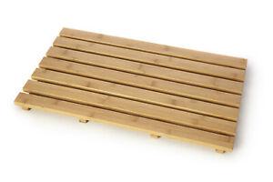Natural Wood Bamboo Wooden Duck Board Rectangular Bath Shower Branded Mat Large