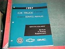 1997 Chevy GMC BI-FUEL COMPRESSED NATURAL GAS C-SERIES PICKUP MANUAL SUPPLEMENT