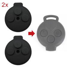 2 Stück Autoschlüssel 3 Tasten Tastenfeld Gehäuse passend für Smart 451 fortwo