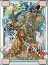 Animals (043). World Animals. 14CT Counted Cross Stitch Kit. Craft Brand New.