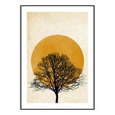 Sunseat With Tree Modern Wall Art Print Posters Stylish Fashion House Decor