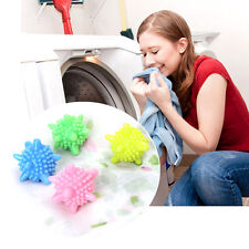 4pc Solid Resin Dryer Ball Washing Laundry Drying Fabric Fabrics Softener Clean