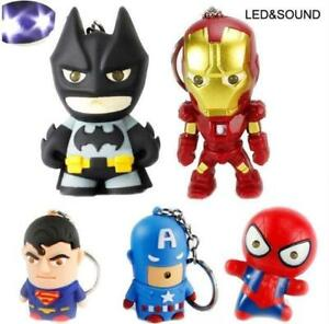 Marvel Super Heroes Torch Sound LED Lamp Light Key-rings Kids Toy Party FREEPOST