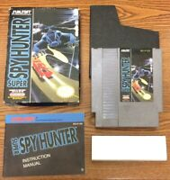 Super Spy Hunter CIB Complete in Box NES Nintendo Game Tested Works Combined S&H