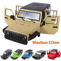 1X 313MM Car Body Shell for 1/10 RC Car Jeep Wrangler SCX10II 90046 90047 TRX4