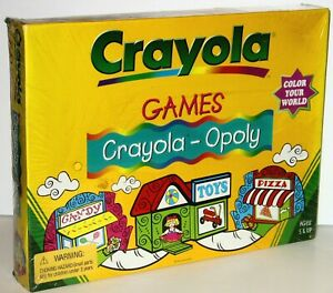 Vintage Crayola Games CRAYOLA-OPOLY Monopoly Board Game NEW Factory SEALED
