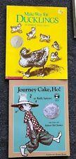2 Robert McCloskey Books Make Way for Ducklings & Journey Cake, Ho! Caldecott