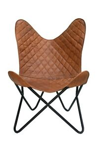 Leather Butterfly Chair Vintage Leather Brown  Seat Lounge