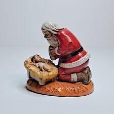 Simonetti Fontanini Kneeling Santa Baby Jesus Italy Figurine #598 Roman 1984