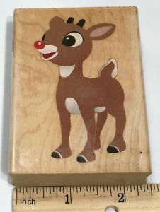 Rudolph the Red Nosed Reindeer LARGE Rubber Stamp Hampton Art