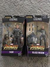 Marvel Legends Thor + Black Widow Avengers Infinity War 2 Figure Lot