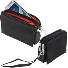 Quertasche Etui für HTC One X9 Case Tasche Hülle black m 2 Reißverschlussfächern