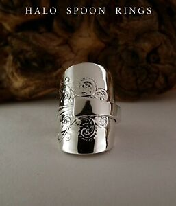 STUNNING VICTORIAN SOLID SILVER SPOON RING LONDON 1900 PERFECT CHRISTMAS GIFT