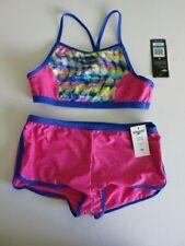 02c388ec78a Speedo Girl's 16 Pink Blue 2 Pc Bikini Swimsuit Boy Short Bottoms Tie Dye  Top