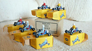 Très rare Dinky toys France Meccano boite revendeur 6 Leskokart 512 neufs 1962