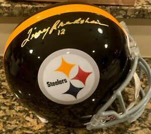 TERRY BRADSHAW SIGNED PITTSBURGH STEELERS FULL SIZE REPLICA HELMET