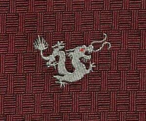 """Sweet New Tag Hermes Silk Boston Lucky Tie """"Fire Breathing Dragon"""" Ex Rare Mint!"""